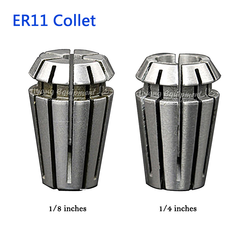 2pcs 1/8 Inches ER11 Collet CNC Lathe Tool Holder 3.175mm and 6.35mm for cnc router
