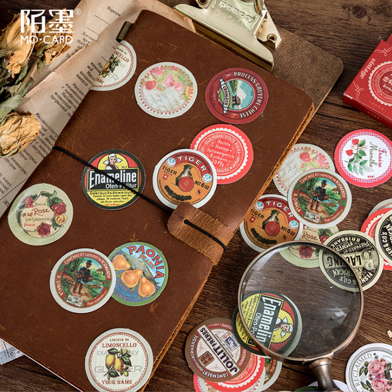 45pcs/pack Vintage Fetish Time Deco Diary Stickers Scrapbooking Planner Decorative Stationery Stickers