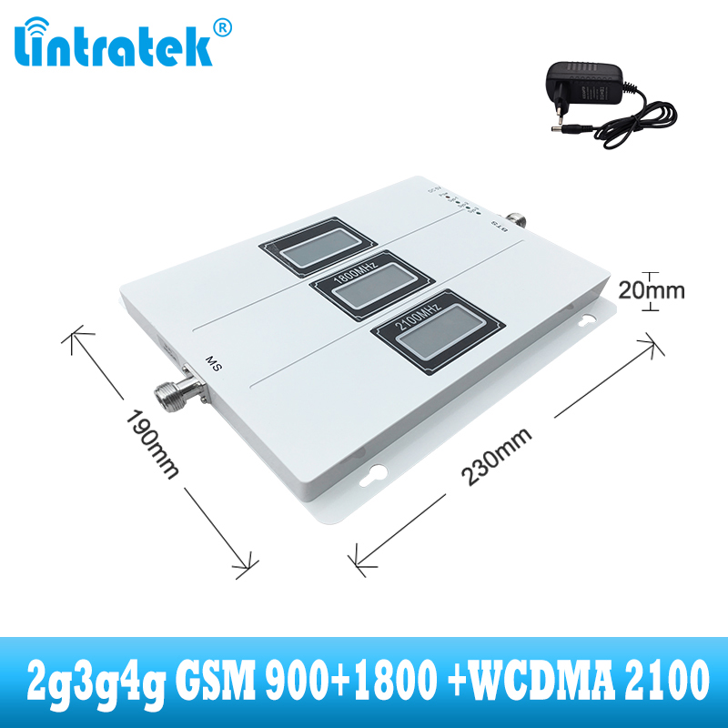 Image 2 - lintratek Tri Band Cellular Repeater GSM 900 UMTS 2100 1800 Mobile phone Signal Booster 70dB Gain 2G 3G 4G internet Amplifier-in Signal Boosters from Cellphones & Telecommunications