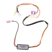 DRL Controller Auto Car LED Daytime Running Light Relay Harness Dimmer On/Off 4.7 x 2.5 x 1.5cm(China)