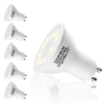 Aigostar - 8W GU10 Bombilla LED, Luz calida 3000K, 560lm, 8W Equivalente a 55Watt Lámpara Incandescente, Paquete de 5 Unidades [Clase de eficiencia energética A+]