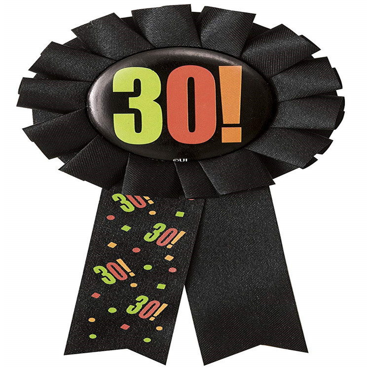 Currently Available Hot Sales Tinplate Birthday Party Badge 30 40 50 60 Holiday Ball Lace Badge