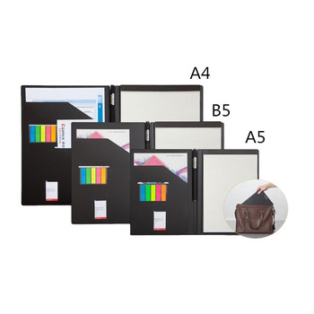 A4 B5 A5 business PU folder multi-function management folder, school and office staff folder, office organization folder sog kiku folder
