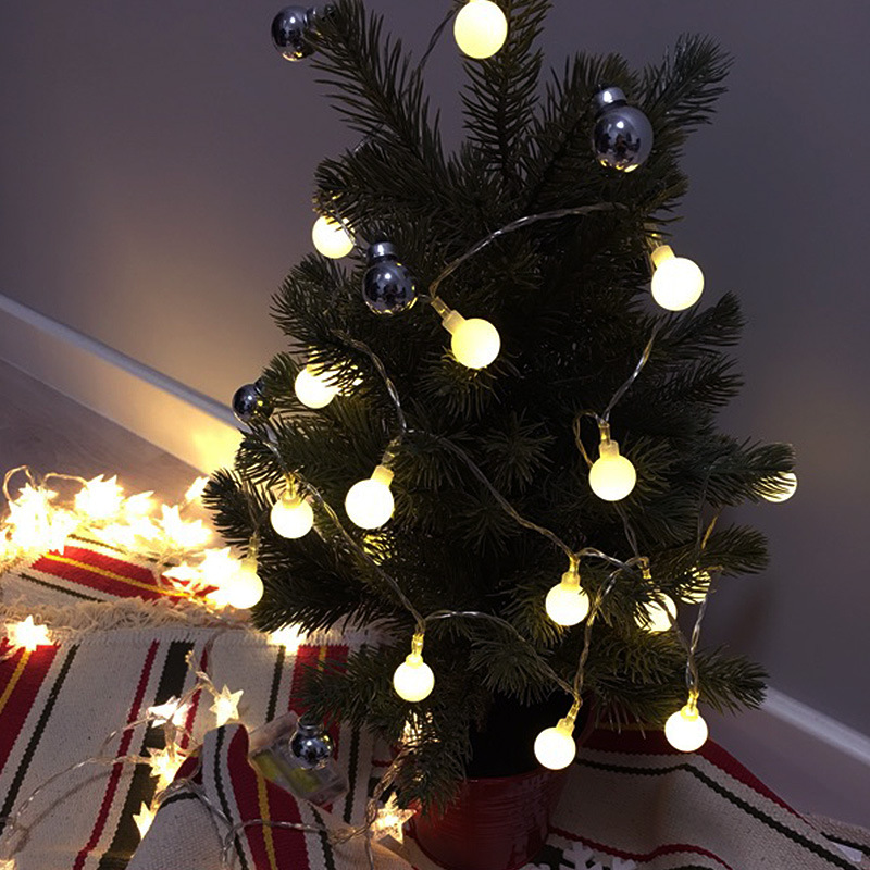 Battery Powered 1.5M 3M 6M Ball String Lights Starry Christmas Small Lights LED Waterproof Indoor And Outdoor Decorative Lights
