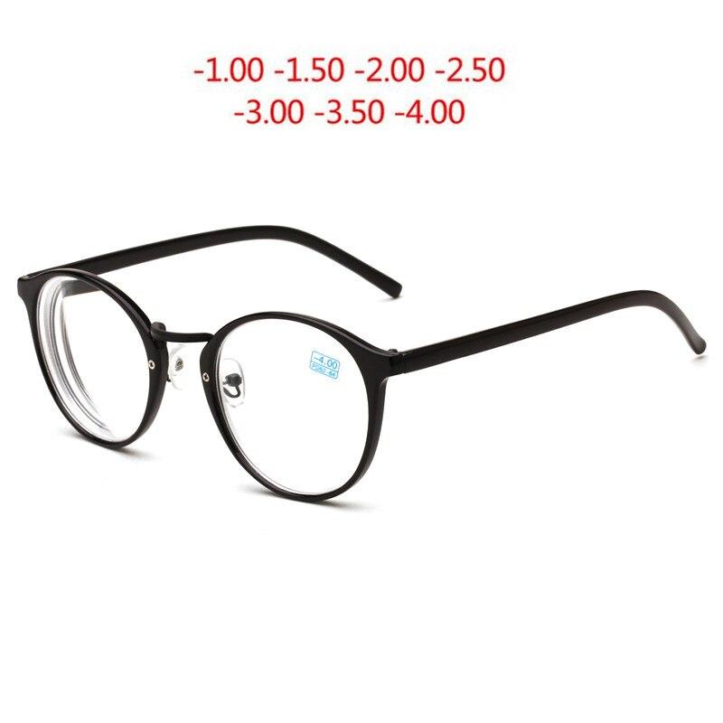 SPH-1.0,-1.5~ -4.0Circle Finished Myopia Spectacle Eyeglasses Optical Men Women Prescription Lentes Opticos Para Hombre