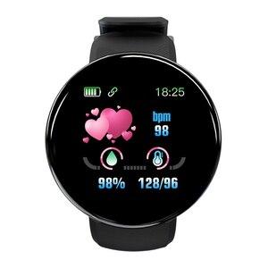 Image 4 - D18 ciśnienia krwi tętno Smartwatch kolorowy ekran inteligentny zegarek fitness smart watch IP65 wodoodporna bransoletka