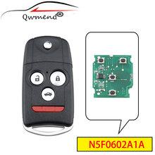 Qwmend 4 кнопки умный Автомобильный ключ для toyota mdx rdx
