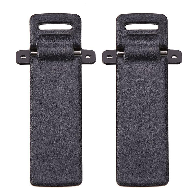 2Pcs Walkie Talkie Spare Part Back Belt Clip For Baofeng 2-way Radio UV5R For Baofeng Intercom UV5R / 5RA / 5R + / 5RB / 5RC