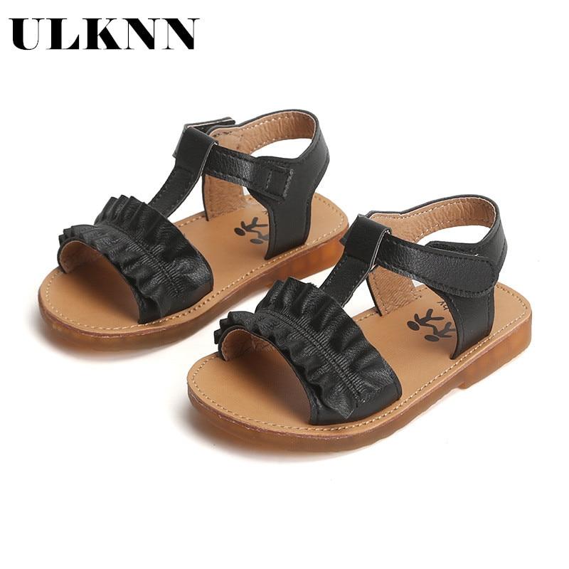 ULKNN 2020 Summer New Children's Sandals Slip   Casual Shoes Korean Girls Fashion Princess Flower Sandals