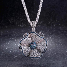 Vintage Flower Long Pendant Necklace Trendy Hollow Sweater Chain Necklace for Women Ladies Party Jewelry Christmas Gifts