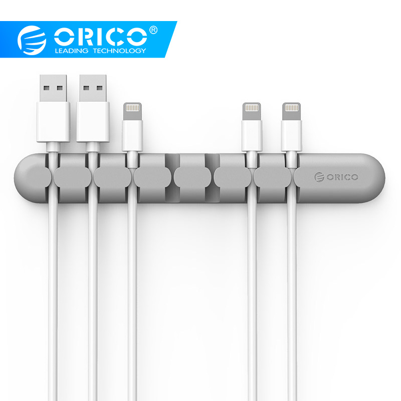 ORICO CBS7 Cable Winder Earphone Organizer Wire Storage Silicon Charger Holder Clips for MP3 ,MP4 ,Mouse,Earphone