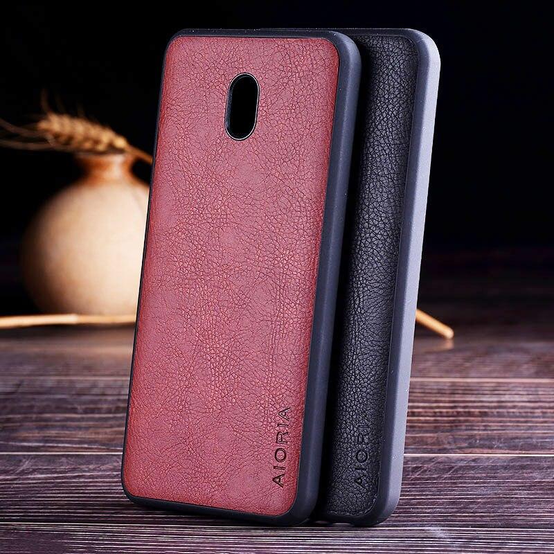 Case For Xiaomi Redmi 8A Luxury Vintage Leather Skin Capa With Soft Tpu + Pc Phone Cover For Xiaomi Redmi 8A Case Funda Coque