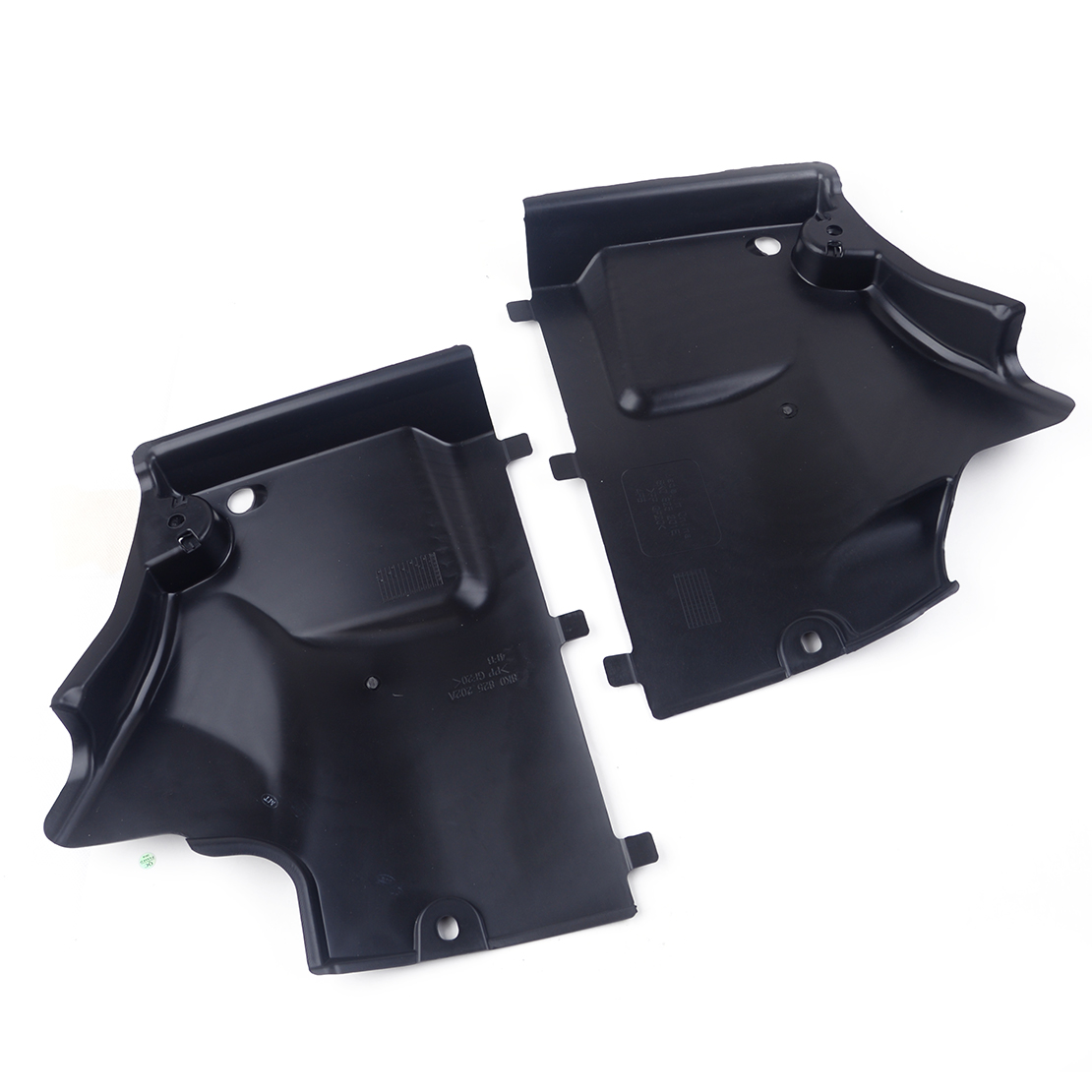 DWCX 1 Pair Black ABS Front Underbody Shield Panel Cover Trim 8K0825201E Fit for AUDI A4 S4 A5 S5 2010 2011 2012 2013 2014 2015
