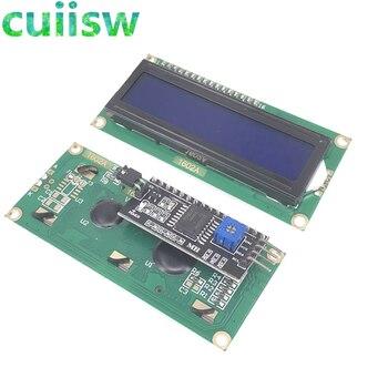 LCD1602 + I2C LCD 1602 módulo pantalla azul PCF8574 IIC/I2C para arduino LCD1602 placa adaptadora
