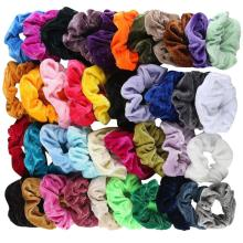 5Pcs-41 Pcs Fashion Accessories Velvet Elastic Hair Bands for Women or Girls