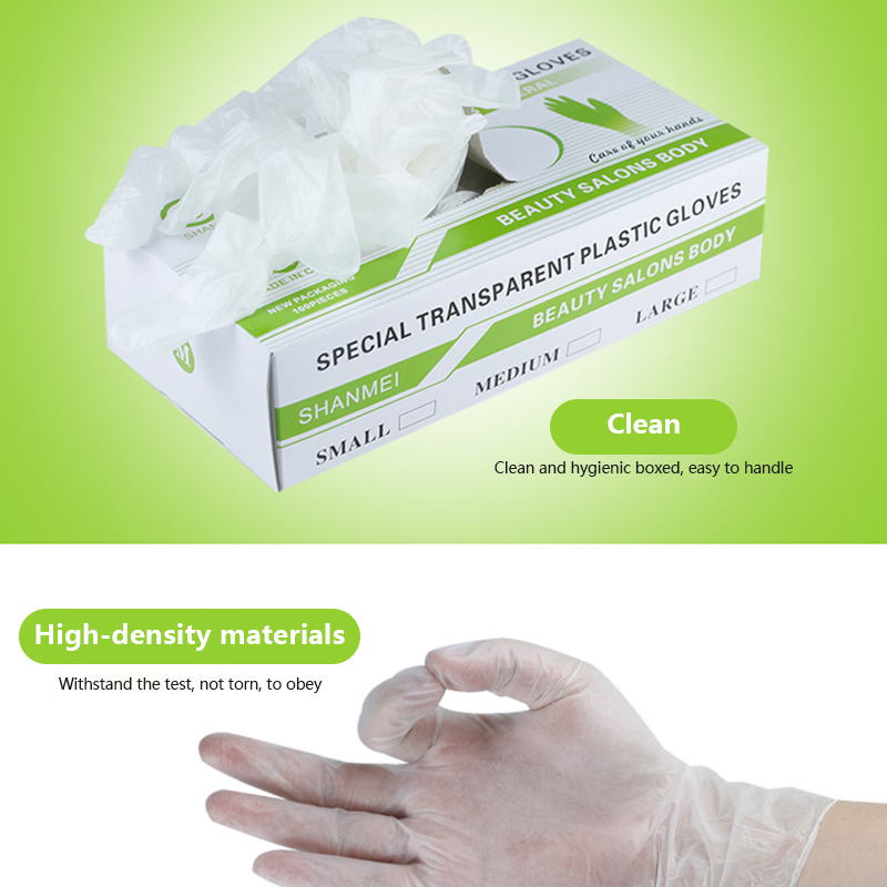 50Pcs/Box Nitrile Gloves Transparent Waterproof Allergy Free Disposable Work Safety Gloves Nitrile Gloves Protective Gloves