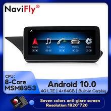 Autoradio Android 10, 8 cœurs, 4 go/64 go, Navigation GPS, lecteur automatique pour voiture Mercedes Benz classe E W212 (2009, 2010, 2011, 2012, 2013, 2014, 2015)