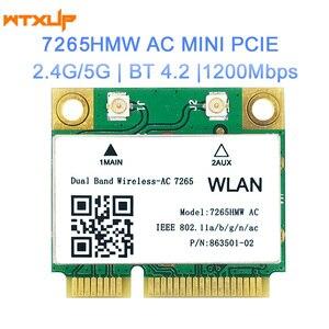 Image 4 - 802.11ac dla Intel 7260 7260HMW wifi + BT Bluetooth 4.0 adapter mini PCI E 867 mb/s 7260AC 7265HMW 8265HMW WiFi karta Wlan