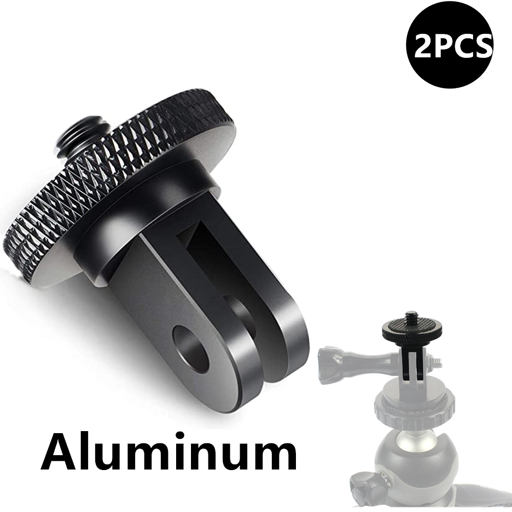 Aluminum Alloy 1/4 inch Mini Tripod Adapter Mount for GoPro Hero 8 7 6 5 4 Black Sjcam M10 Xiaomi Yi 4K Eken Go Pro Accessory 1