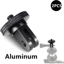 Aluminum Alloy 1/4 inch Mini Tripod Adapter Mount for GoPro Hero 8 7 6 5 4 Black Sjcam