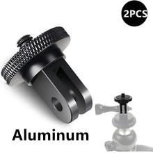 De aleación de aluminio de 1/4 pulgadas Mini montura de adaptador de trípode para GoPro héroe 8 7 6 5 4 negro Sjcam M10 Xiaomi Yi 4K Eken ir Pro accesorio