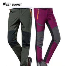 WEST BIKING zimowe termiczne spodnie sportowe męskie damskie polarowe spodnie rowerowe MTB wiatroszczelne spodnie rowerowe sportowe spodenki na rower tanie tanio Pełnej długości Pasuje prawda na wymiar weź swój normalny rozmiar YP0203115 Jazda na rowerze CN (pochodzenie) Poliester