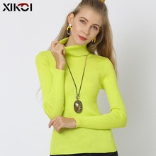 Turtleneck Sweaters XIKOI Women Winte New S-4XL Oversized Pullovers Pink Pull Femme Sexy Fashion Jumper Knitted Sweater 10 Color