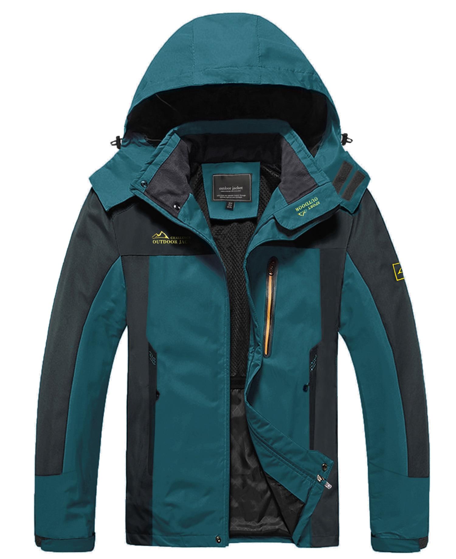WOLFONROAD Spring Outdoor Waterproof Men's Hiking Travel Jackets Coats Fishing Climbing Raincoats Lightweight Windbreaker Male