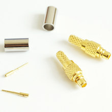 1 pçs rf coaxial conector soquete mmcx friso macho para rg179 lmr100 rg316 rg174 rf cabo coaxial antena banhado a ouro ptfe de bronze