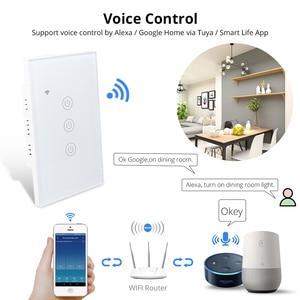 Image 2 - Zemismart NOUS Tuya Commutateur de Lumière WiFi Neutre OptionalWire 1 2 3 Gangs Alexa Google Home Assistant Vie Intelligente Contrôle 220v 240V