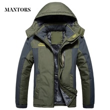 Kış erkek ceketleri kalın sıcak kapüşonlu ceket erkekler açık havada dış giyim su geçirmez rahat iç polar ceketler artı boyutu termal Jaqueta