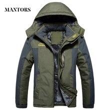 Winter Männer Jacken Dicke Warme Mit Kapuze Mantel Männer Im Freien Outwear Wasserdicht Lässig Inneren Fleece Jacken Plus Größe Thermische Jaqueta