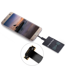 Universal Micro Usb Positive/reverse Plug For iPhone Andandor Qi Wireless Charging Charger Receiver Pad Coil Adapter Receptor