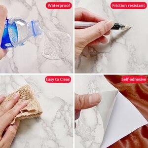 Image 5 - Мраморная виниловая пленка , самоклеящаяся настенная бумага для ванной комнаты, кухни, столешницы, контактная бумага, ПВХ водонепроницаемые наклейки на стену