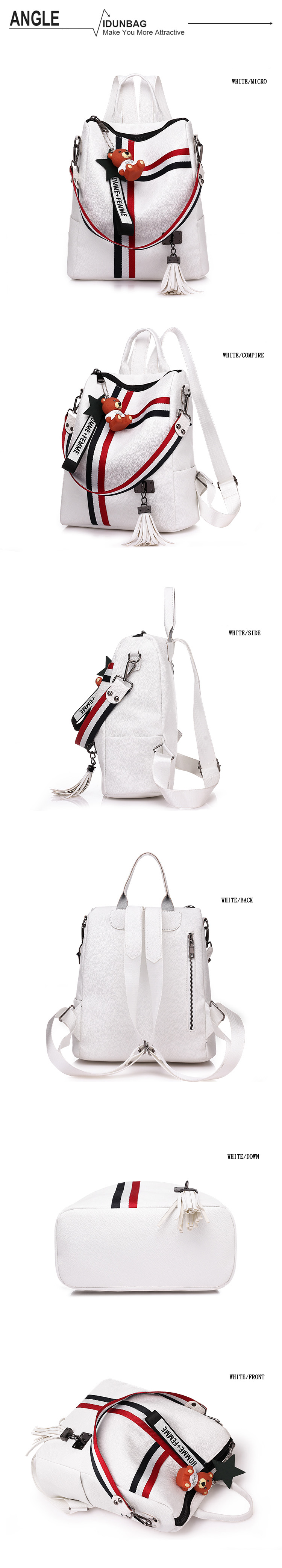 H2f89705e4995419ab6e2195ba3891524r bags for women 2019 new retro fashion zipper ladies backpack PU Leather high quality school bag shoulder bag for youth bags