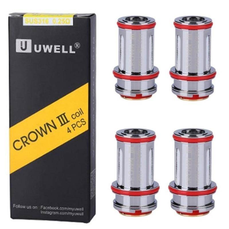 Brand New Hot Sale 4pcs  Crown III Replacement Coils Replacement Coils Tank Coil 0.25ohm 0.4ohm 0.5ohm Crown III 3 Metal