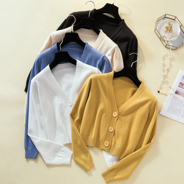 Ailegogo New 2019 Autumn Winter Women's Sweaters Cardigans Minimalist Knitting Tops Fashionable Korean Style Ladies SW8864 1