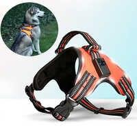 Recarregável led arnês para animais de estimação cão tailup náilon led piscando luz coleira de segurança do cão pet cinto de coleira acessórios para cães
