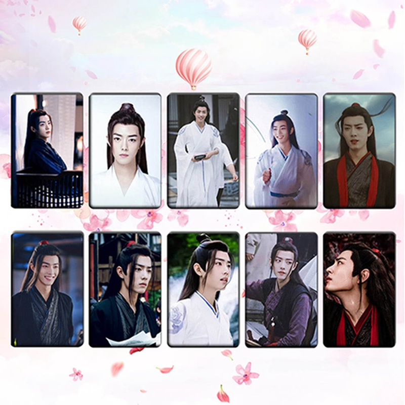 New Fashion Chen Qingling Wang Yibo Lan Wangji Card Sticker Bus Sticker Bookmark Dropshipping