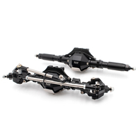 KYX Racing CNC Alloy Front Rear Axle Set Upgrades Parts Accessories for 1/10 RC Crawler Car Axial SCX10 II 90046