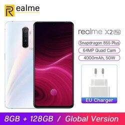 Перейти на Алиэкспресс и купить global version realme x2 pro snapdragon 855 plus mobile phone 8gb 128gb 6.5'' 64mp quad cam 90hz display nfc 50w vooc smartphone