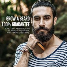 цена на Beard styling beech bristle brush beard shears beard comb men's care beard set