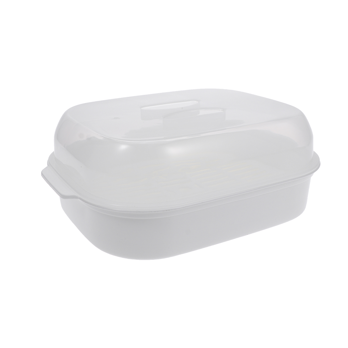 1 Pc Steamed Buns Steamer Microwave Oven Special Box Kitchen Steamer Heats Up For Cooking Kitchen Accessories (White)