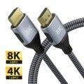 Совместимый с HDMI кабель 4K 60 Гц/120 Гц HDTV высокоскоростной 8K 60 Гц/120 Гц UHD HDR 48 Гбит/с кабель Ycbcr4:4:4 конвертер для проекторов PS4