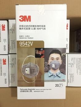 20 unids/caja 3M máscara 9542V anti polvo máscara con válvula respiratoria máscara facial de trabajo
