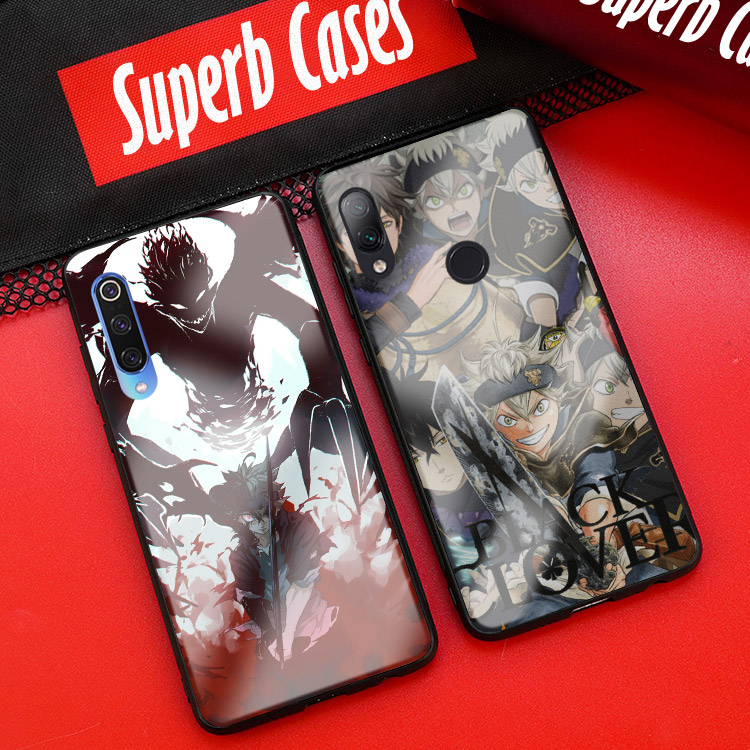 Black Clover <font><b>anime</b></font> Asta phone <font><b>case</b></font> for <font><b>Xiaomi</b></font> <font><b>Mi</b></font> 8 9 SE <font><b>Mix</b></font> <font><b>2</b></font> 2s 3 RedMi Note 5 6 7 8 Pro glass cover soft silicone shell image