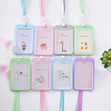 Cute Candy Color Bank ID Card Holder Cover Case Student Business Credit Holders Badge Bag Wallet Kids Gift