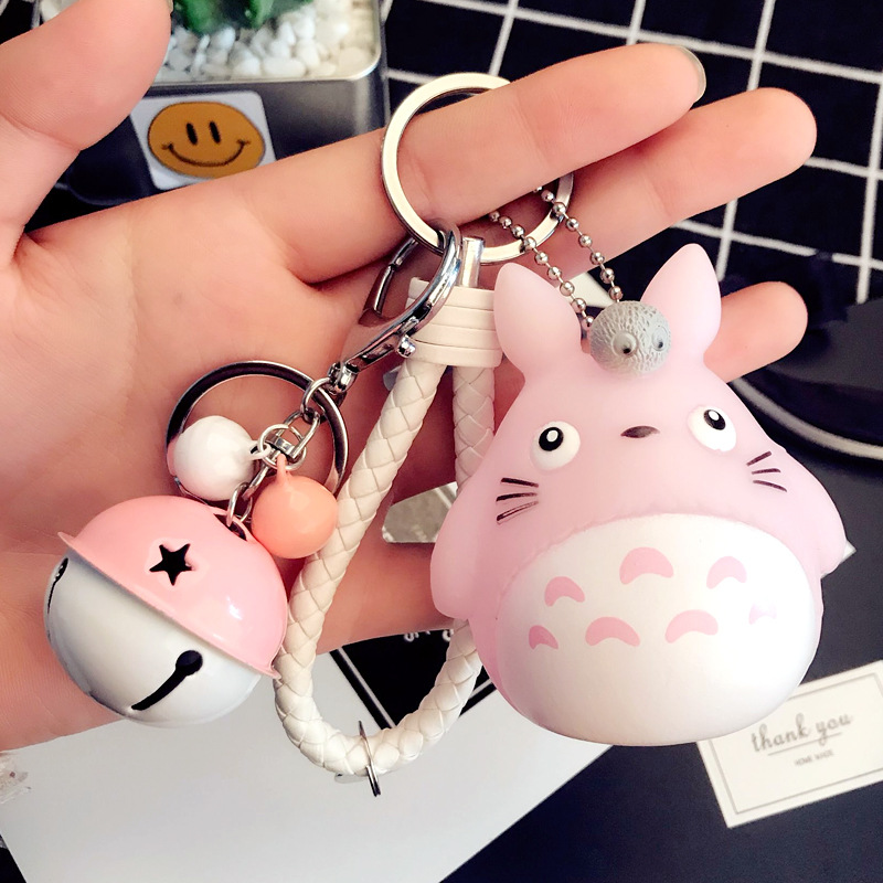 2018 New Cute My Neighbor Totoro Chinchillidae <font><b>Keychain</b></font> Pendant Fit For Bag Charms Purse Accessory Miyazaki Hayao Comic Fans image