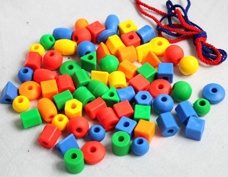 Kindergarten Beads Parent And Child Center Abacus Early Education 10 Yuan Wear Of Work Chuan Chuan Zhu Plastic Color Wear