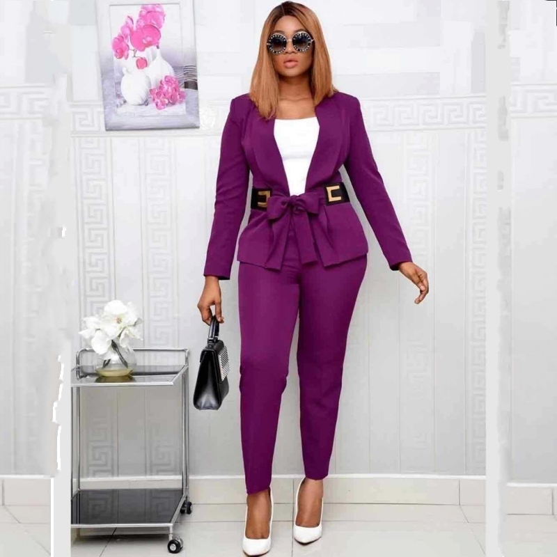 2 Piece Set Africa Clothes Spring Autumn African Dashiki New Fashion Suit Top And Trousers Super Elastic Party For Lady